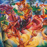 Umberto Boccioni, Elasticità, 1912, huile sur toile 100 x 100 cm. Museo del Novecento, Milan © Museo del Novecento, Commune de Milan (tous droits réservés) Photo: Luca Carrà