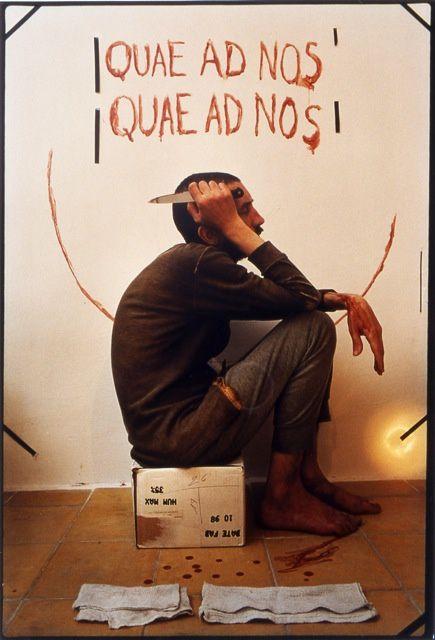 David Nebreda, Quae ad nos, 1999, 65 x 50 cm. Collection Millot-Durrenberger