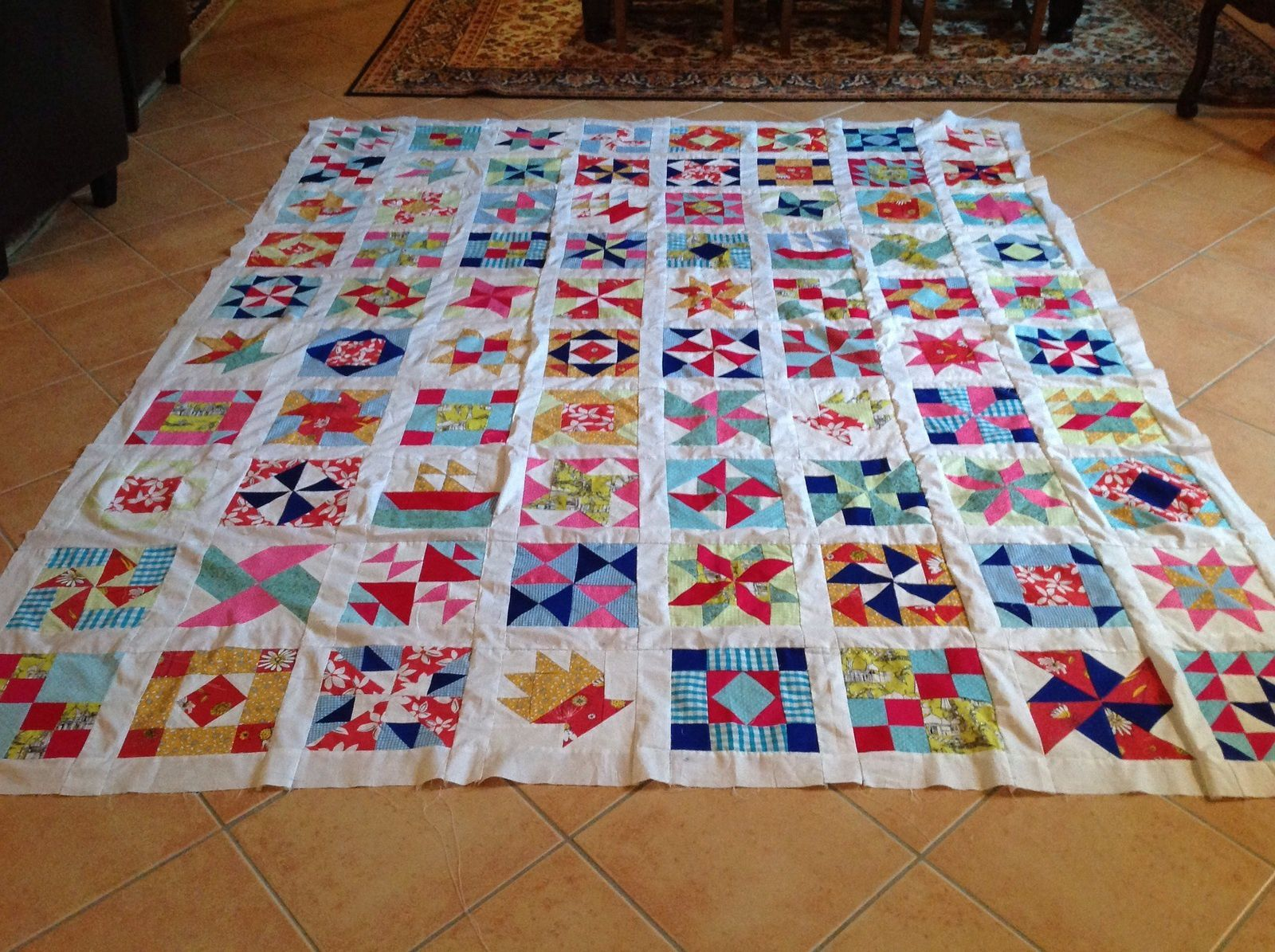Patchwork facile. Le top est terminé
