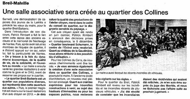 Ouest France - 13/01/2014