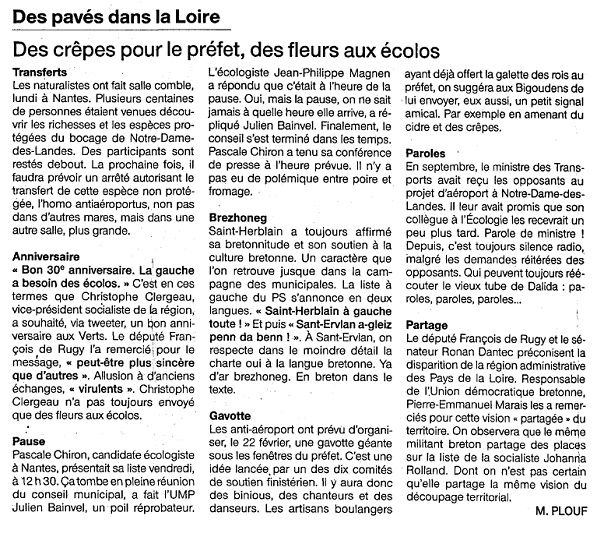 Ouest France - 01-02-2014