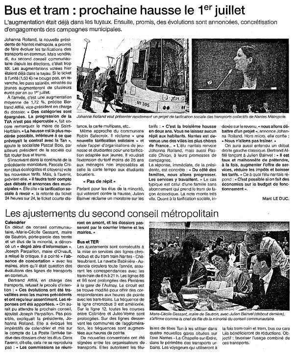 Ouest France - 26-04-2014