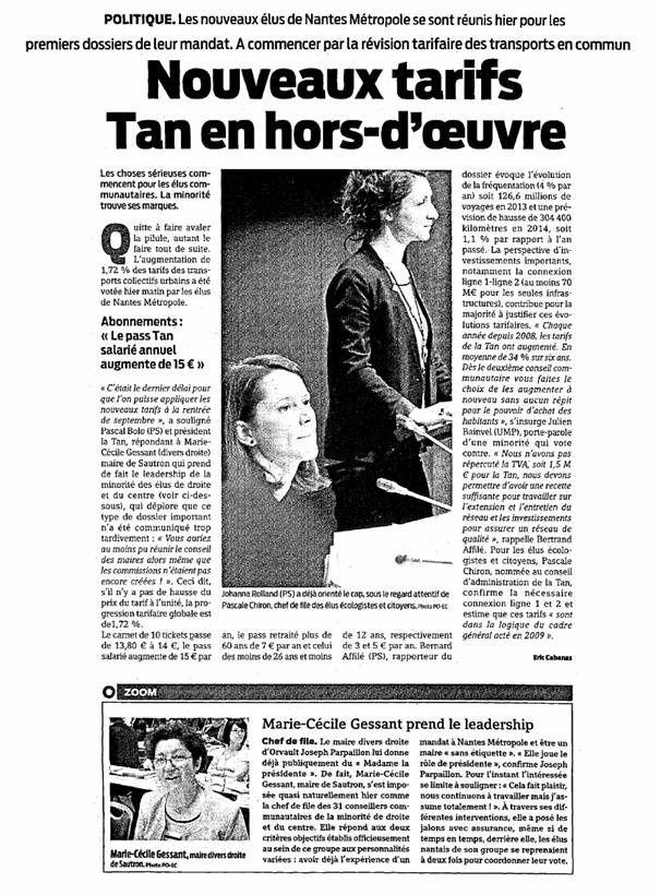 Presse Océan - 26-04-2014