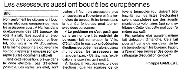 Ouest France - 27/05/2014