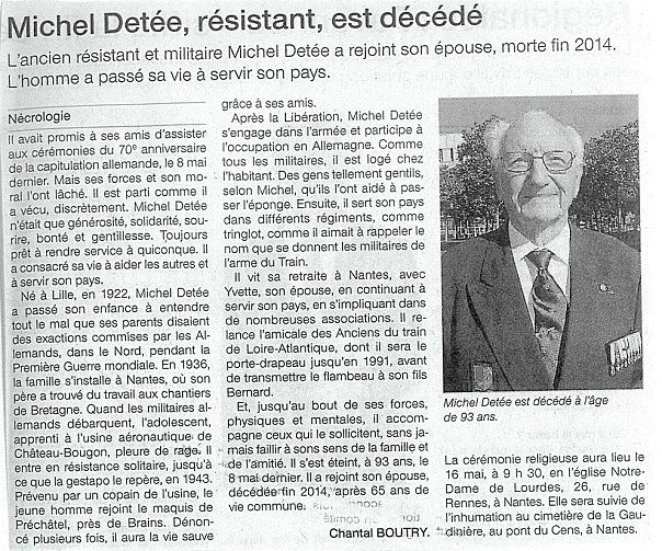 Ouest France - 13/05/2015