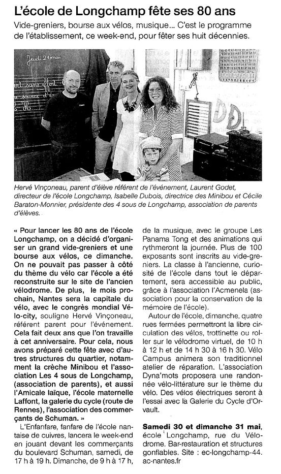 Ouest France - 30/05/2015