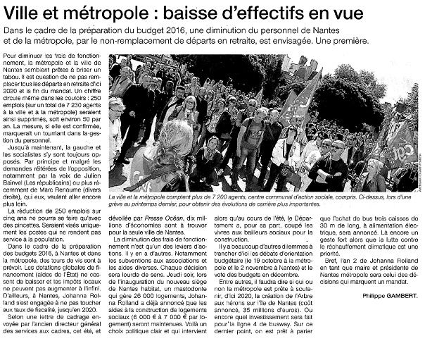 Ouest France - 12-09-2015