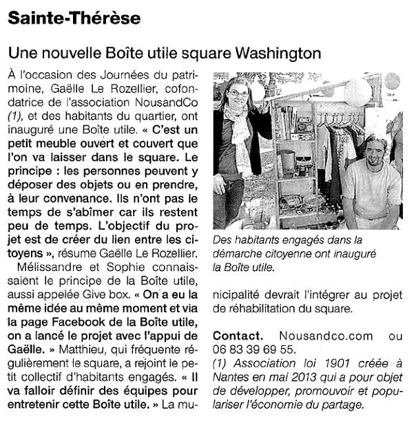 Ouest France  - 21-09-2015