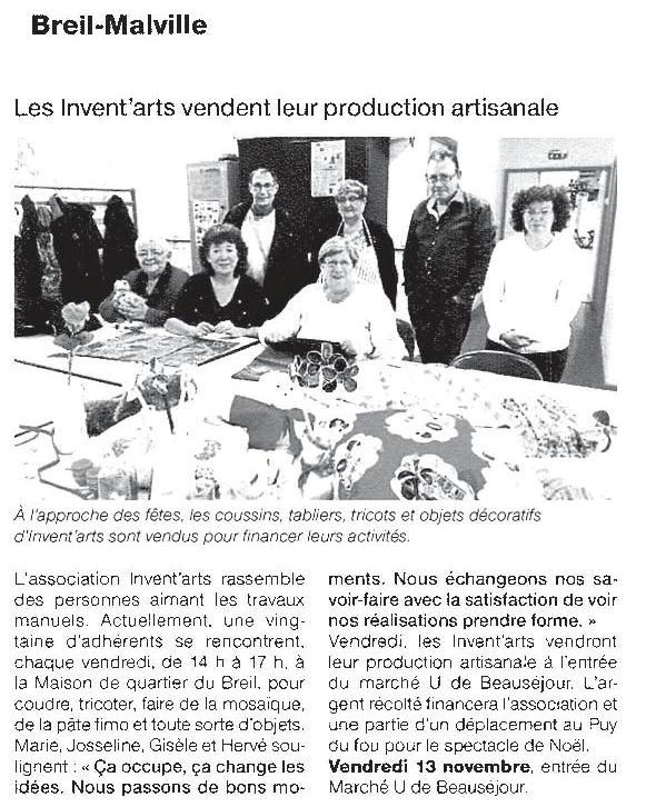 Ouest France - 09/11/2015