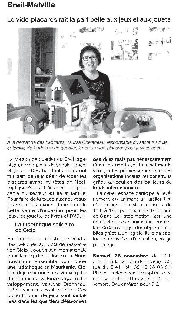 Ouest France - 10/11/2015