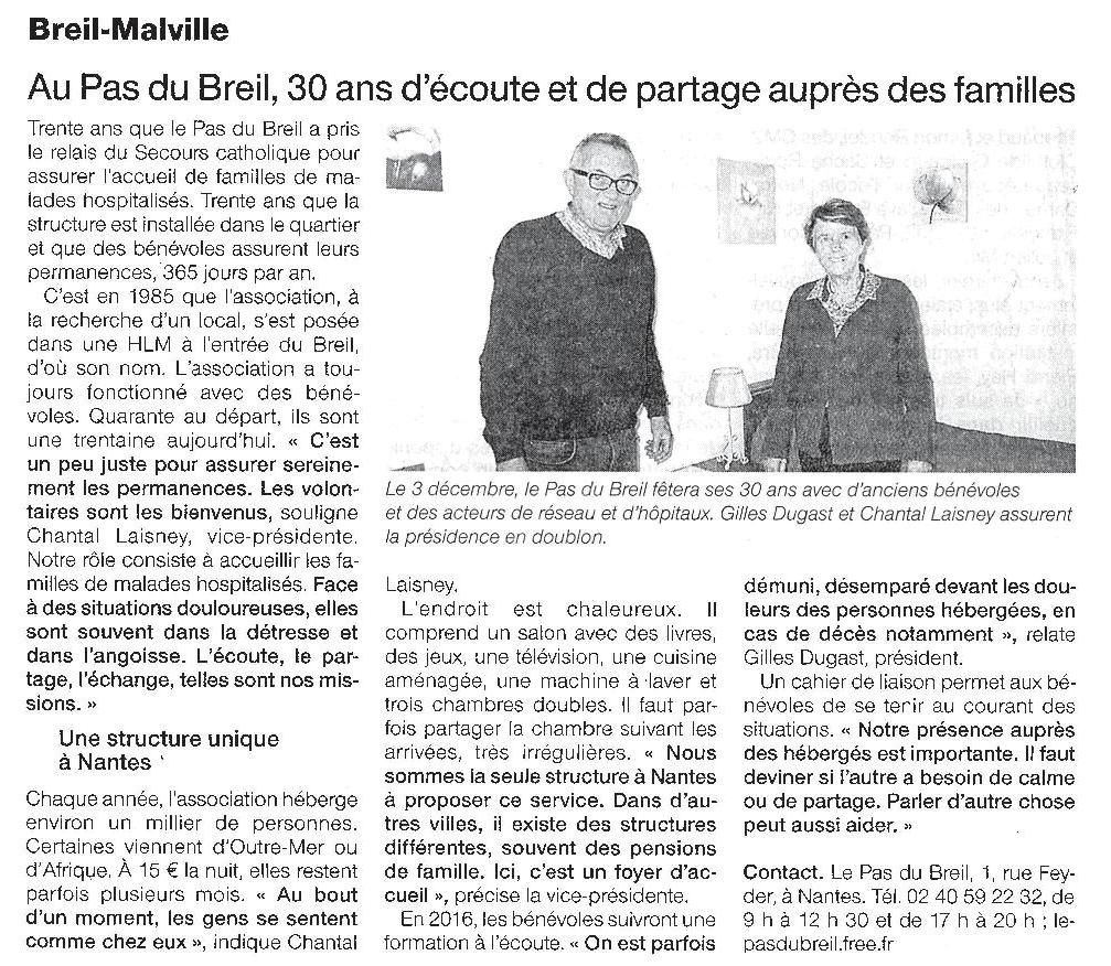 Ouest France - 30-11-2015