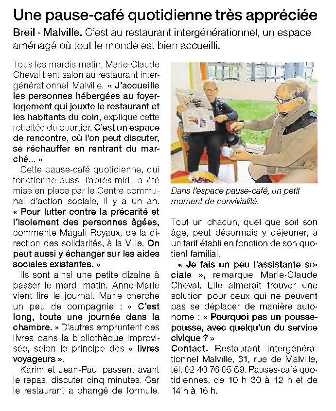 Ouest France - 09/02/2016