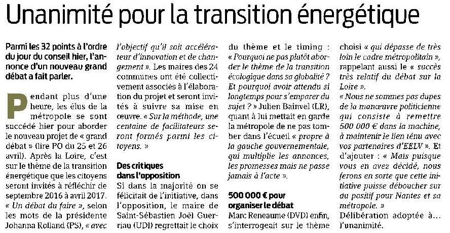Presse Océan - 30/04/2016