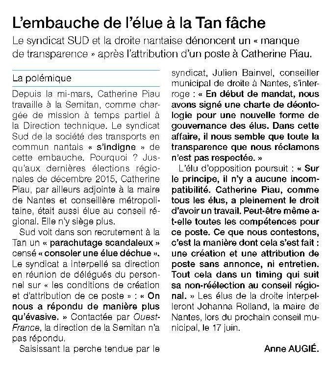 Ouest France - 07-05-2016