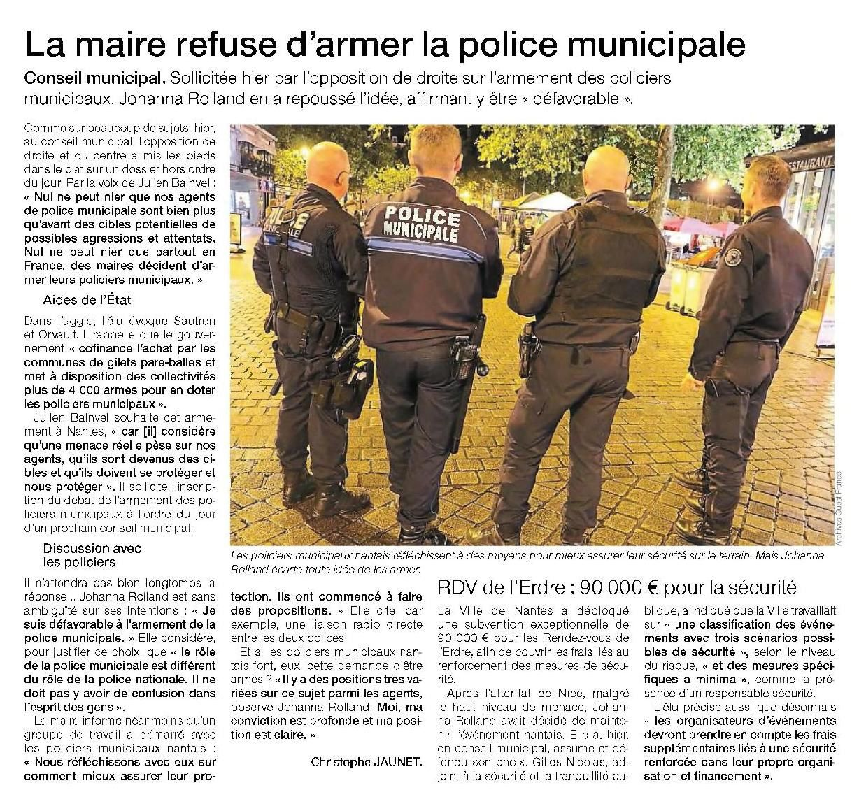 Ouest France - 08/10/2016
