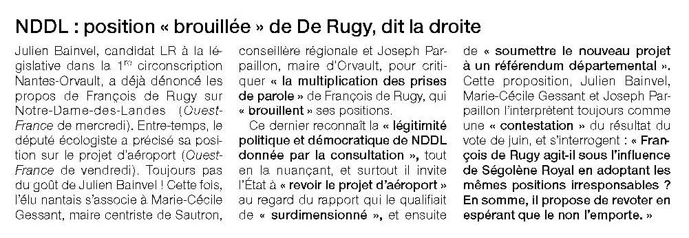 Ouest France - 29/10/2016