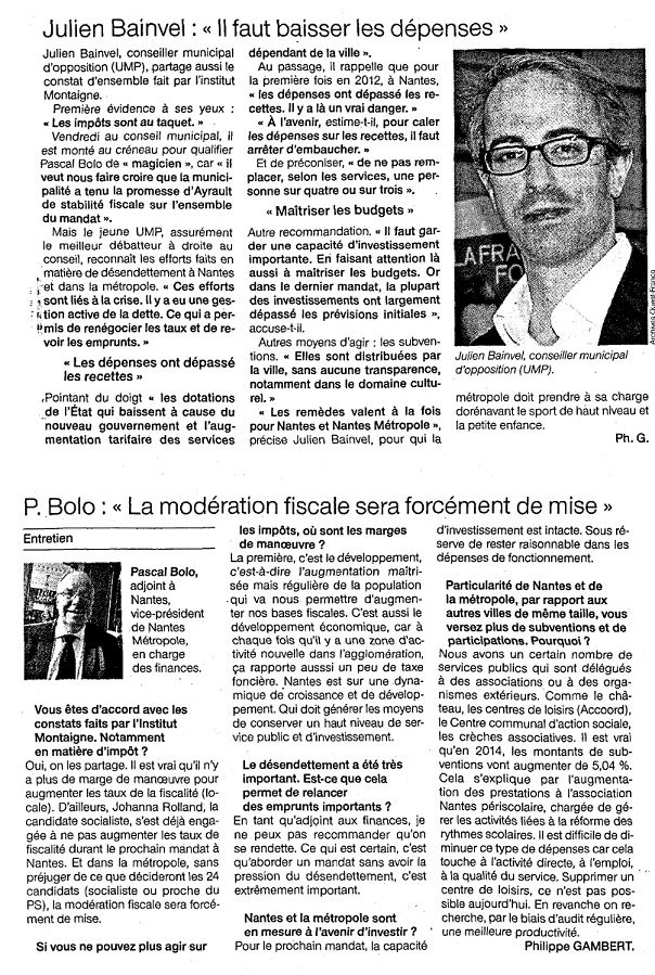 Ouest France - 09/12/2013