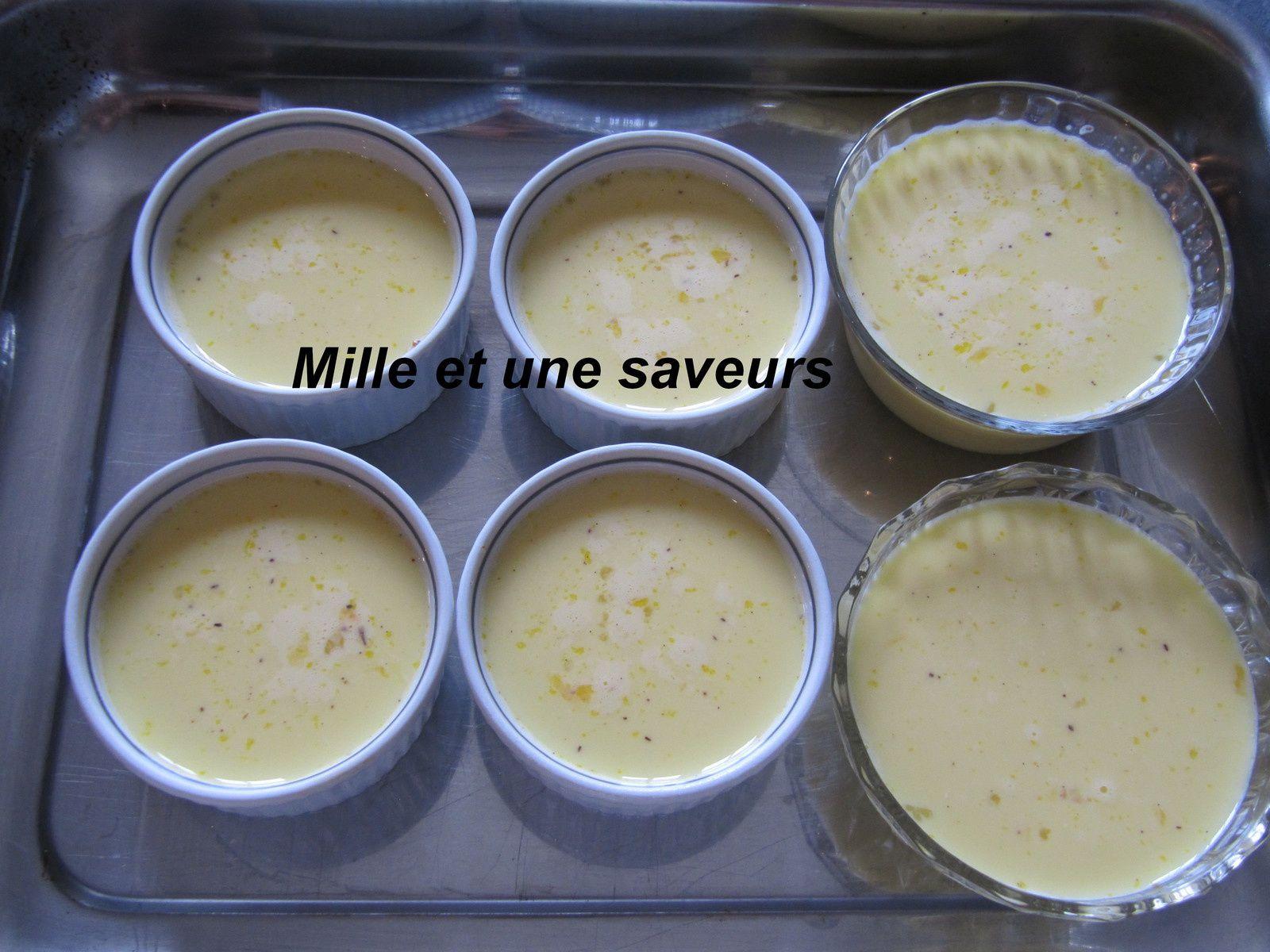 Crème aux oeufs à la vanille ou crème renversée