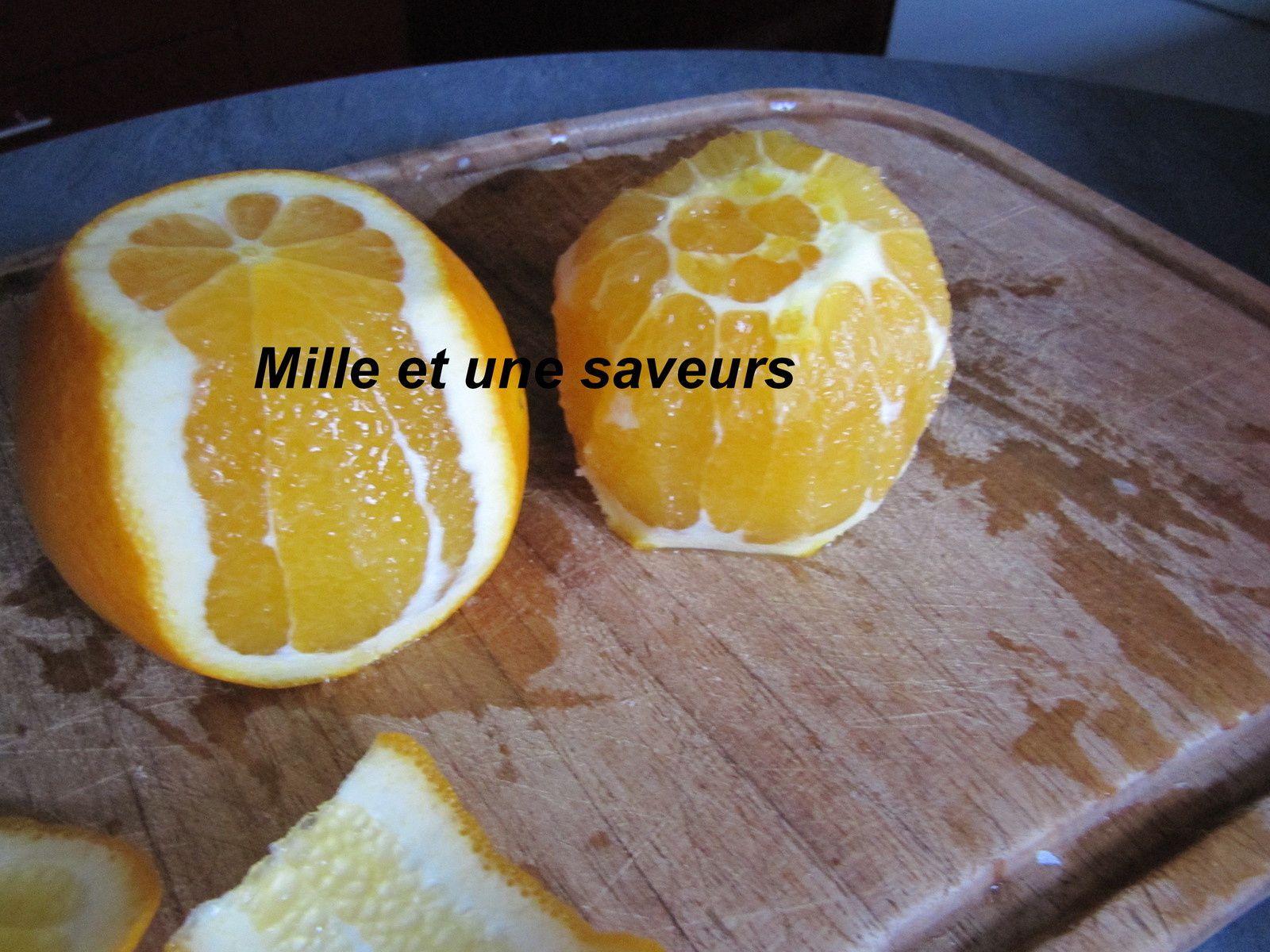 Dessert frais aux agrumes