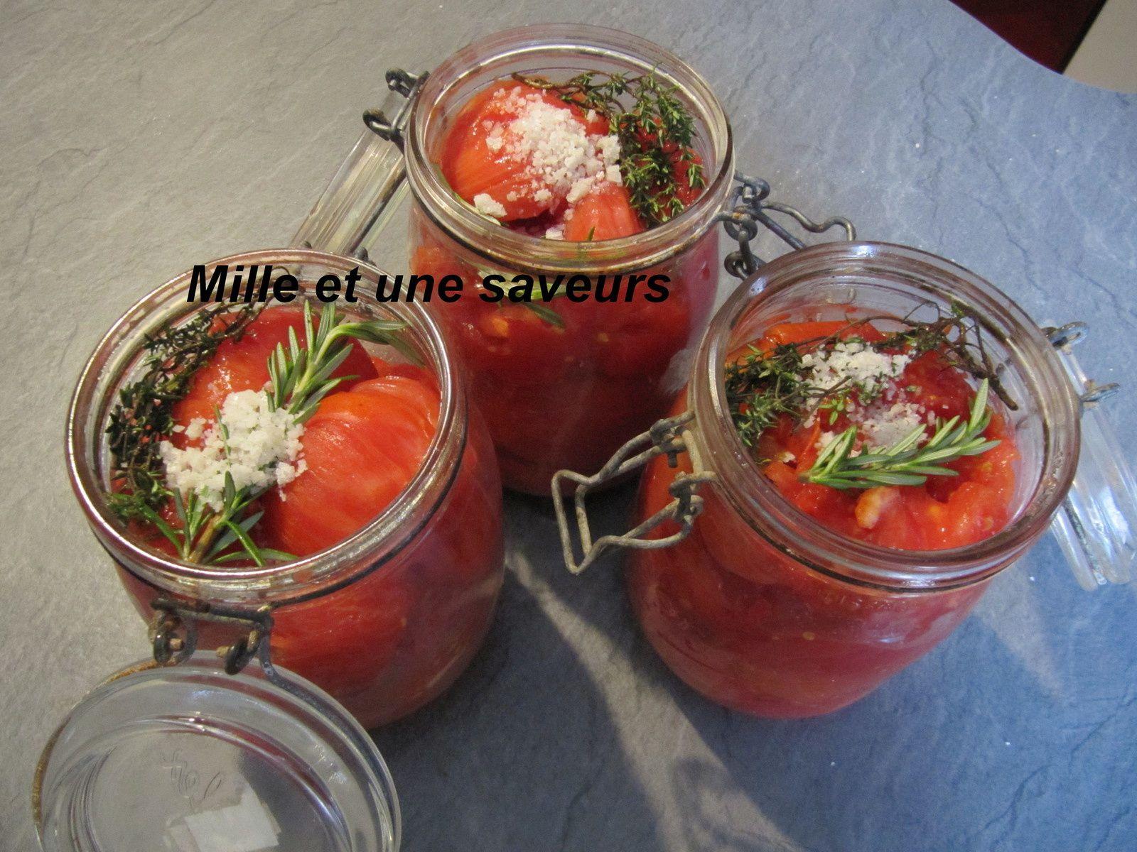 Tomates stérilisées