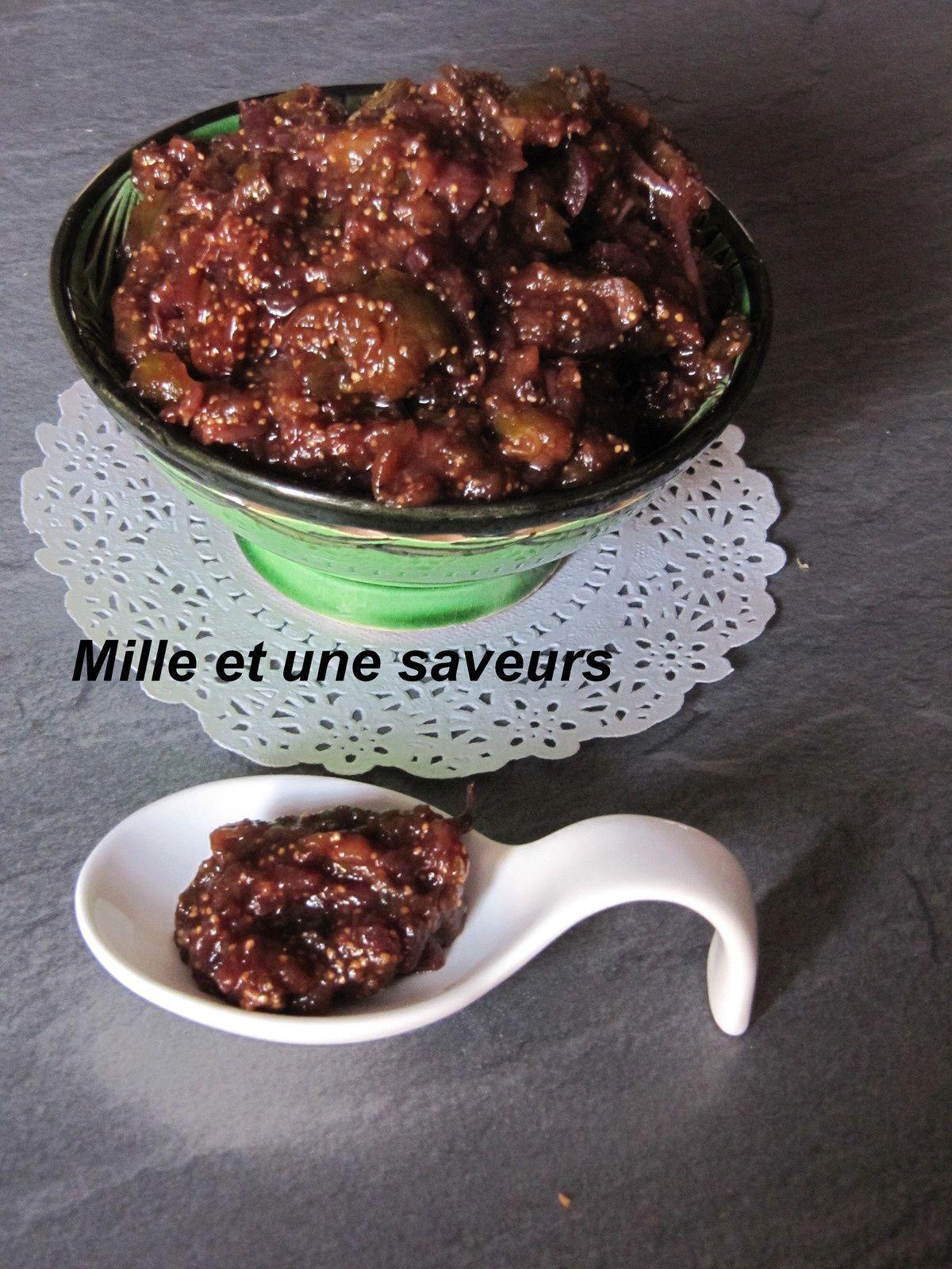 confiture de figues et oignons rouges