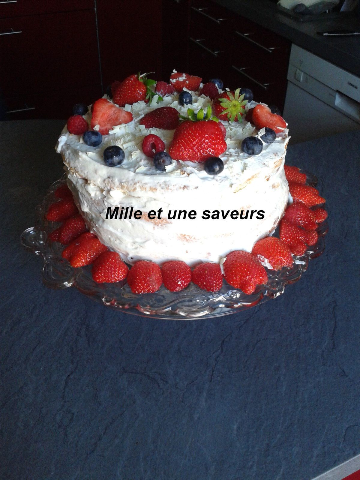 Le gâteau nu : Naked cake - Gâteau à croquer