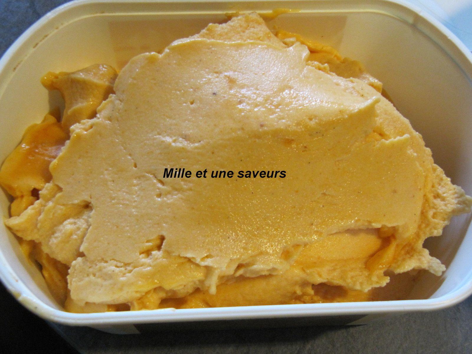 Sorbet à l'abricot avec sorbetière
