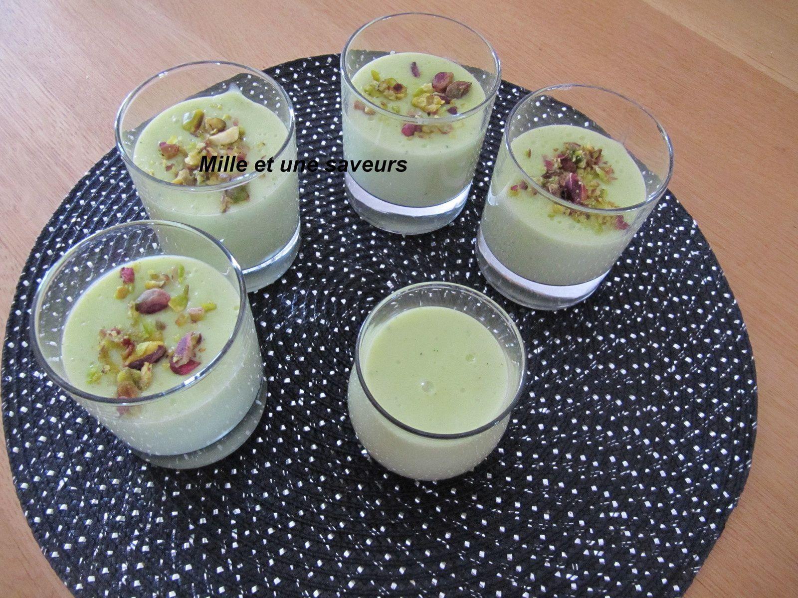 crème danette à la pâte de pistache