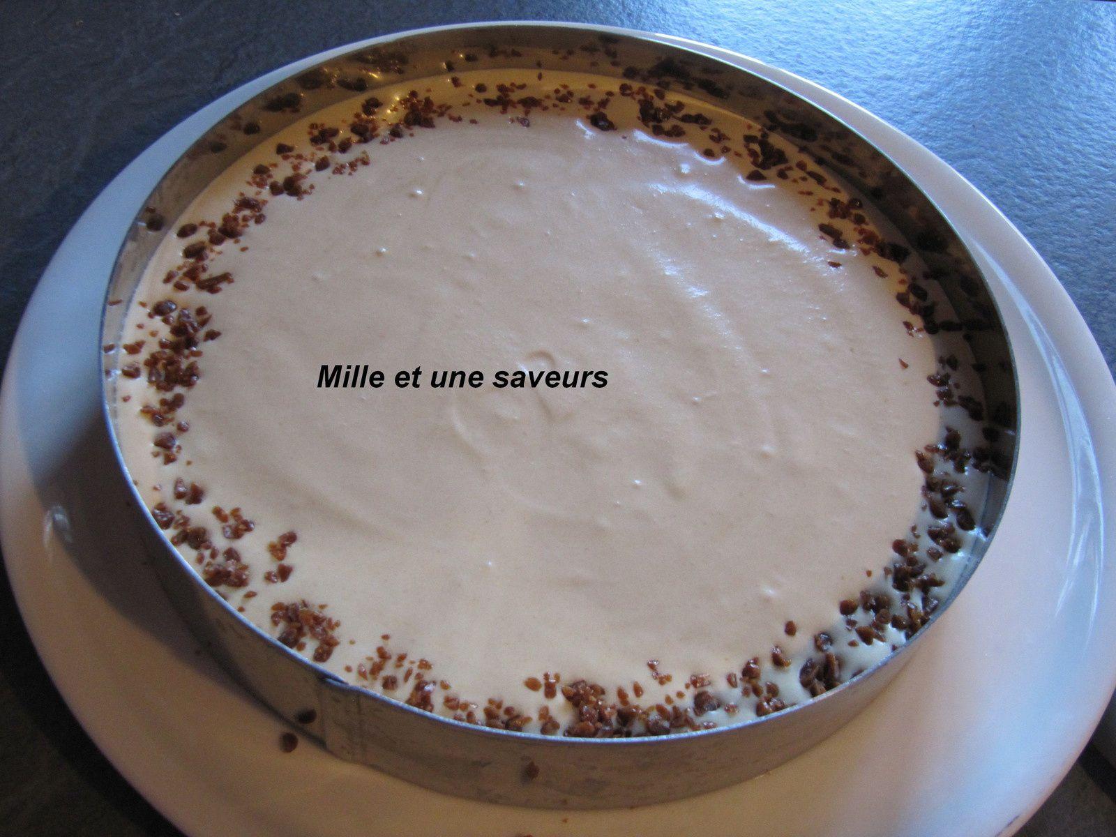 Entremet à la mousse caramel au beurre salé