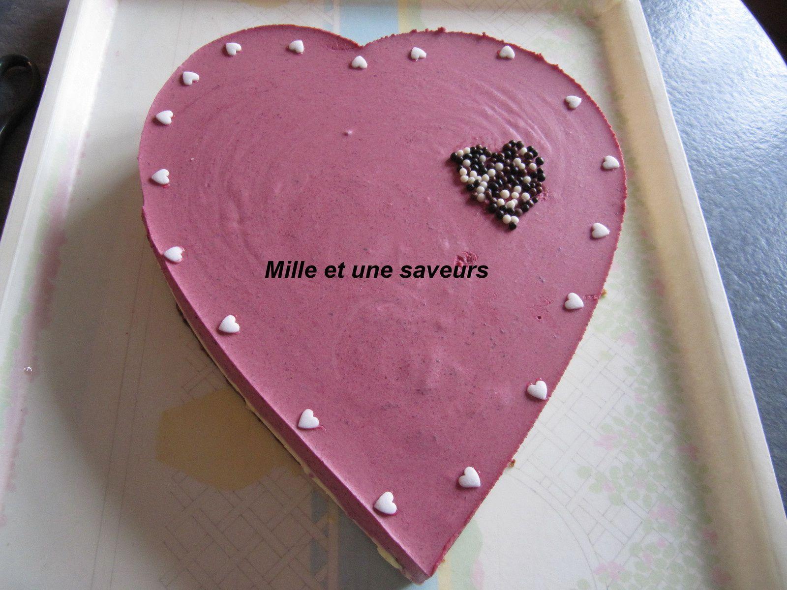 Coeur à la mousse vanillée et boisée