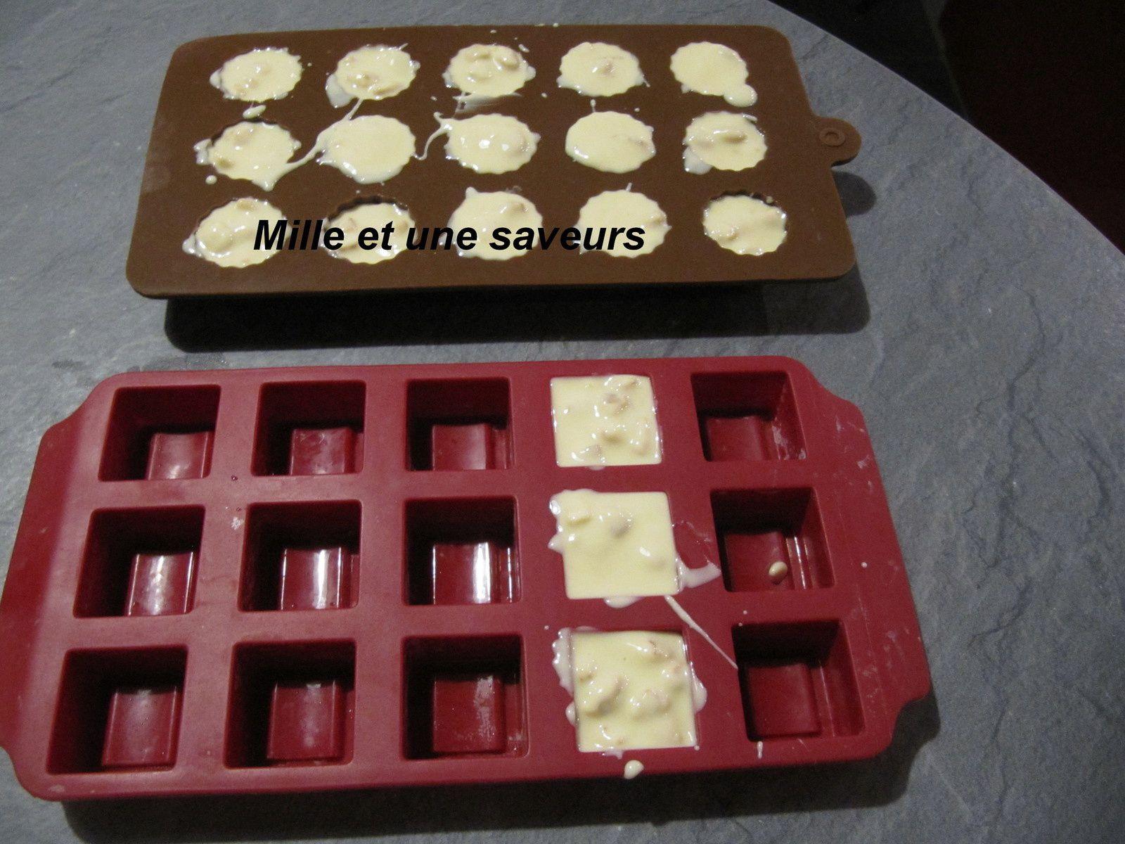 Petits chocolats maison au blé soufflé caramélisé au thermomix