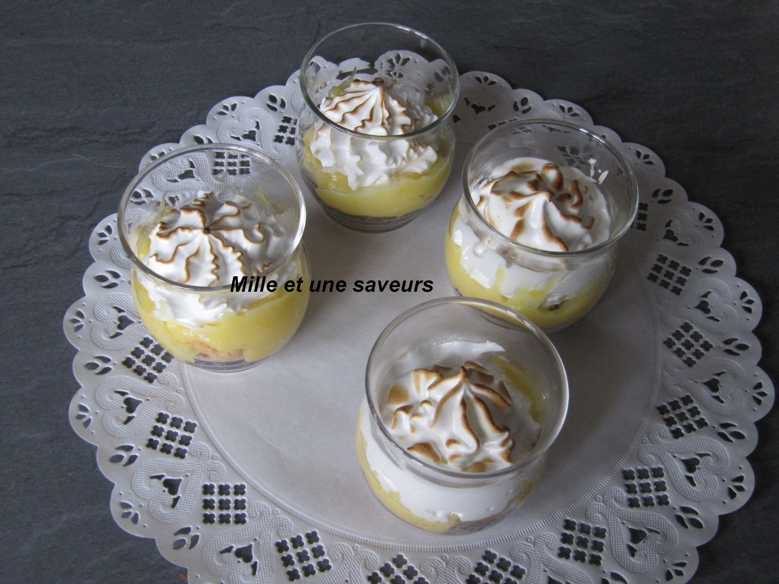 Verrine tarte citron meringué revisité, incroyablement bon