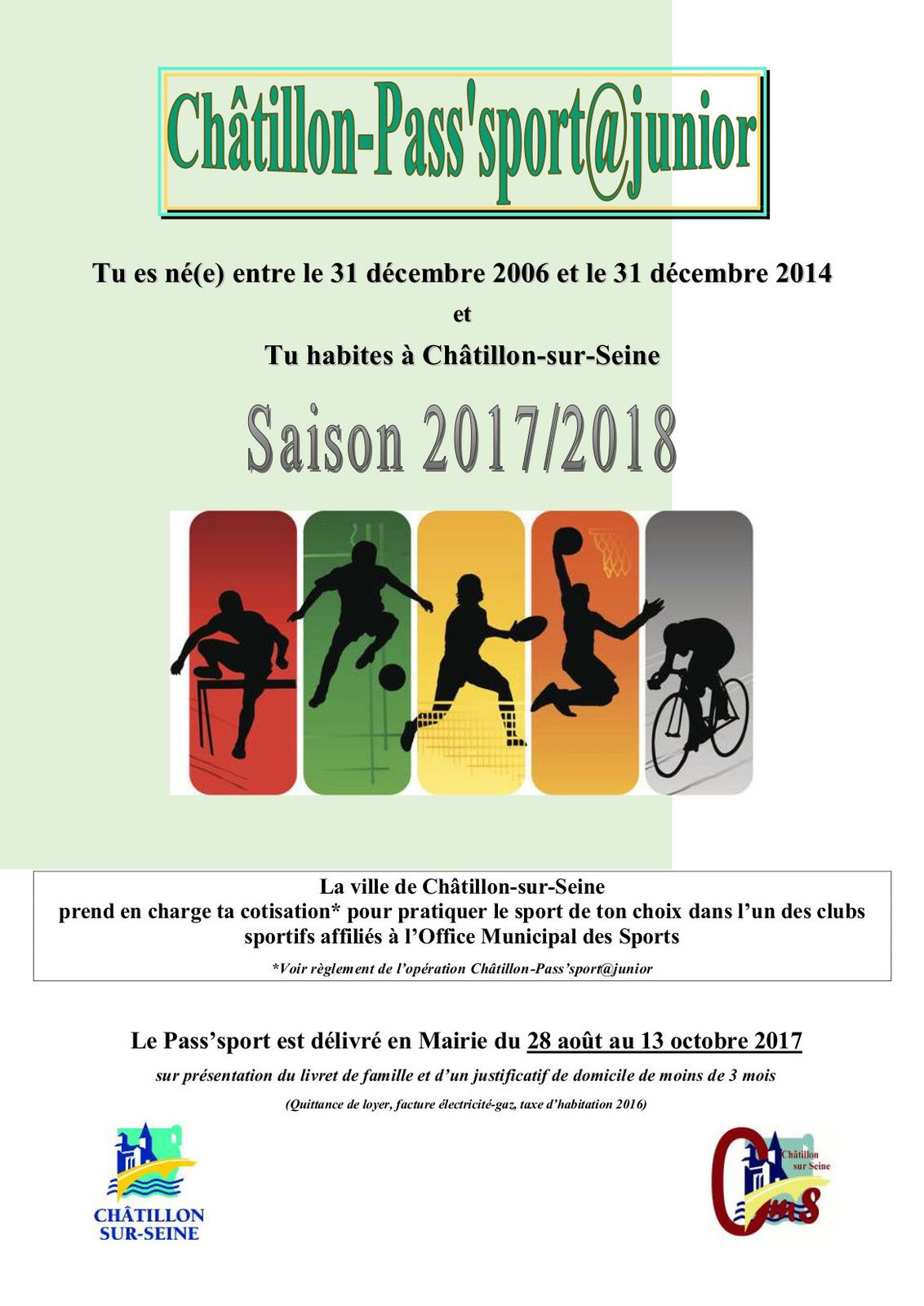 Op ration pass 39 sport 2017 2018 o m s de chatillon sur - Office de tourisme chatillon sur seine ...