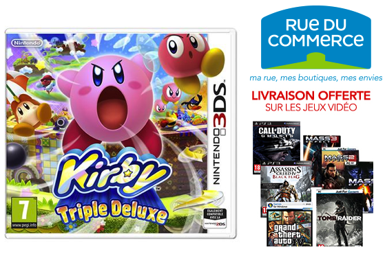 [RESULTATS CONCOURS] Kirby Triple Deluxe avec RueDuCommerce