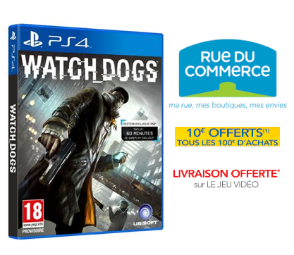 [RESULTAT CONCOURS] Watch Dogs/PS4 avec RueduCommerce !