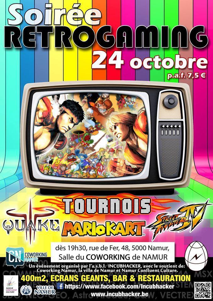 Soirée Rétro le vendredi 24 octobre à Namur !