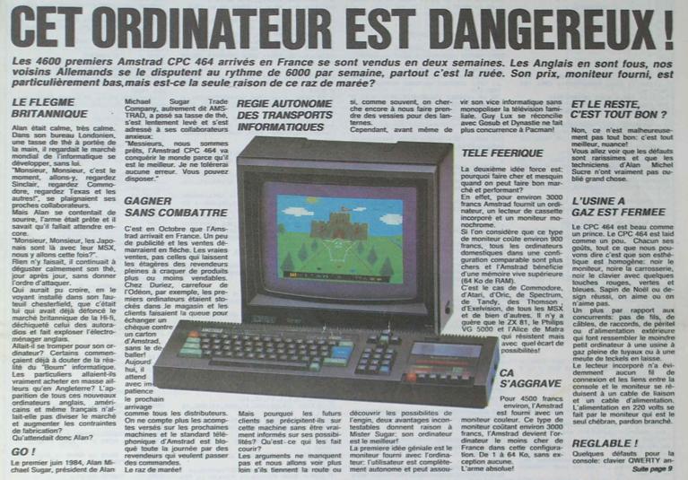 [C'ETAIT IL Y A 30 ANS] L'Amstrad CPC est dangereux !