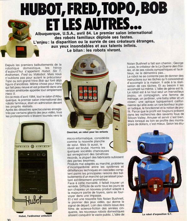 [C'ETAIT IL Y A 30 ANS] Les robots menacent le jeu vidéo !