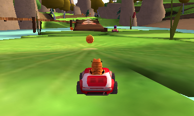 Garfield plus fort que Mario en Kart ?