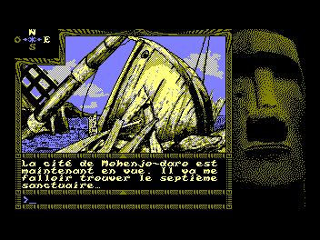 La version Amstrad CPC (en 320x200 4 couleurs)