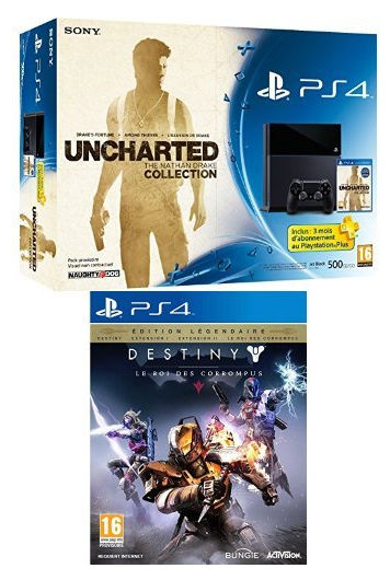 Un bundle PS4 Uncharted + Destiny