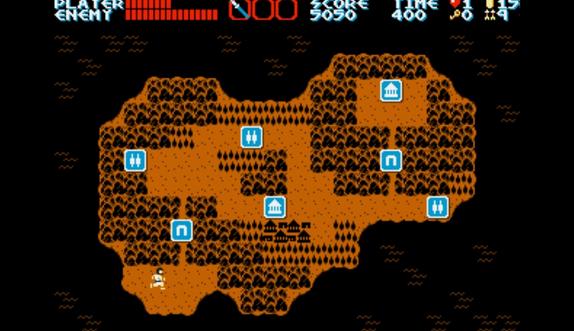 La carte de l'ile, qui donne à penser que l'on pourra choisir l'ordre de certains niveaux