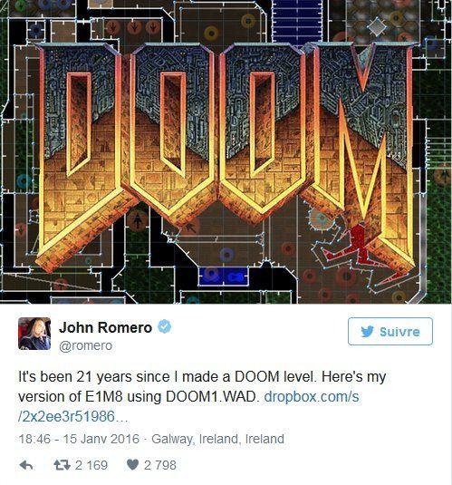John Romero crée un nouveau niveau pour Doom !