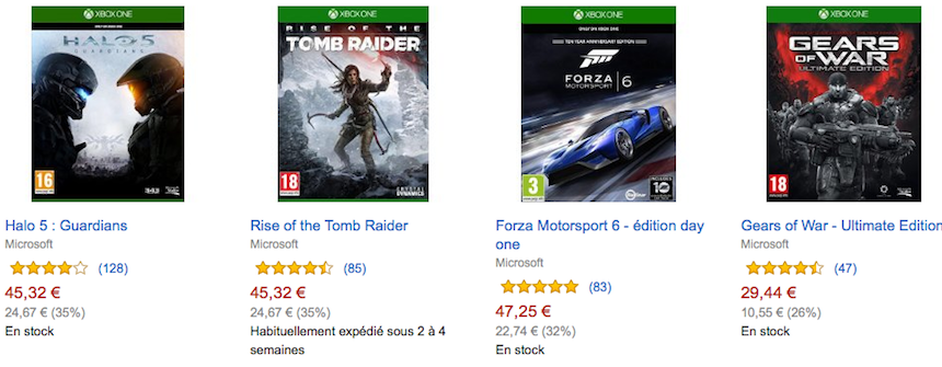 Promo Xbox One sur Amazon