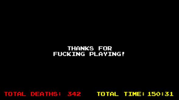 Arriver à l'écran final en normal n'a pas été une mince affaire (temps total en minutes).