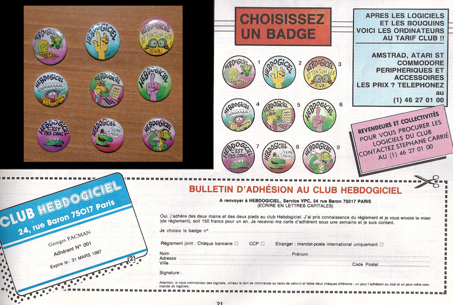 [RETROPRESS] Ma collection de badges Hebdogiciel