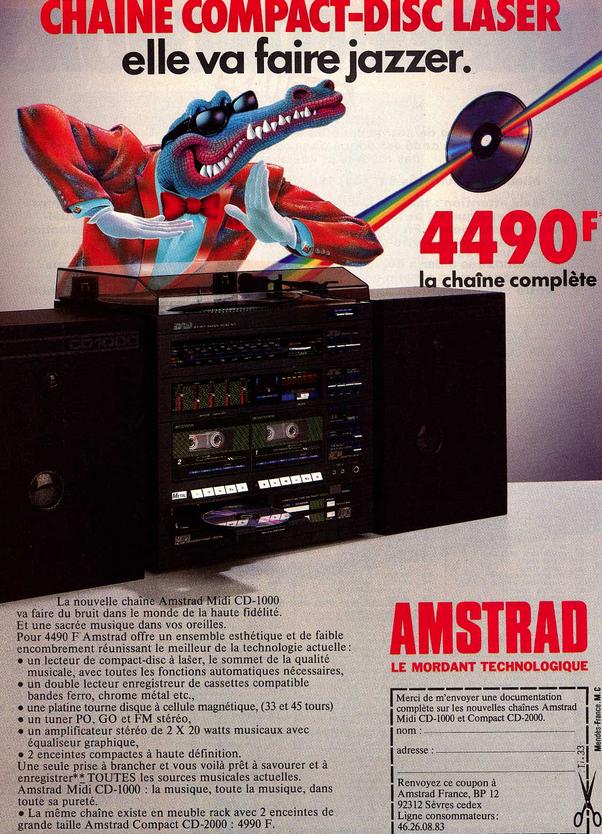 [C'ETAIT IL Y A 30 ANS] Amstrad fait jazzer