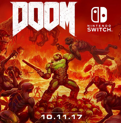 DOOM confirmé pour le 10 novembre sur Switch !
