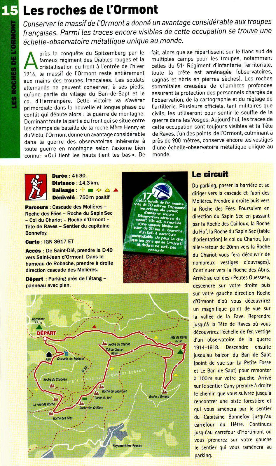 Passion Vosges - La Grande Guerre, 31 circuits pédestres présentés par le Club vosgien