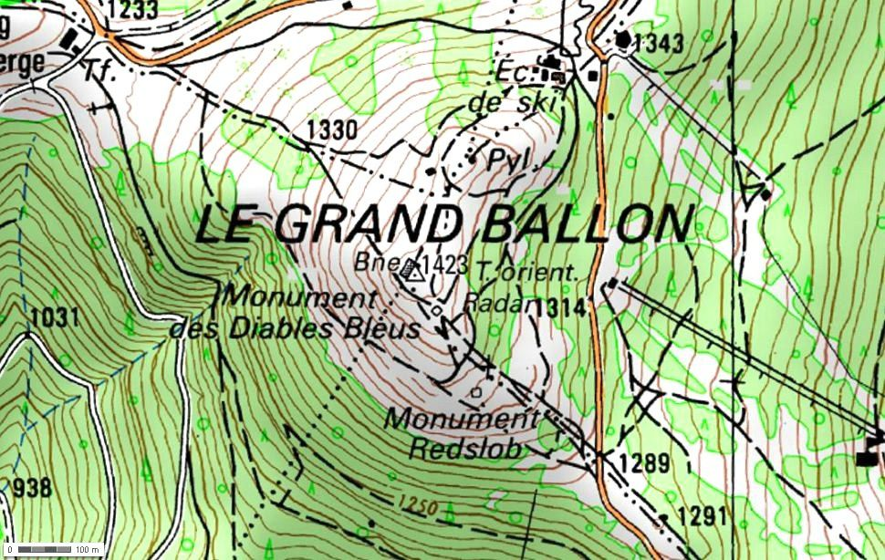Le Grand Ballon (Géoportail)